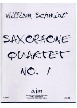 画像1: サキソフォン四重奏のための第一組曲  ウィリアム・シュミット作曲