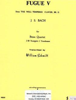 画像1: 金管四重奏のためのフーガV   J.S.バッハ作曲/ウィリアムシュミット編曲
