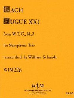 画像1: SAB サキソフォン三重奏のためのフーガ21,WTC 2 ヨハン セバスチャン バッハ作曲