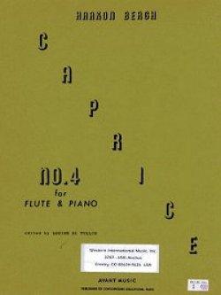 画像1: フルートとピアノのためのカプリス第四番 ホーコン ベルグ作曲