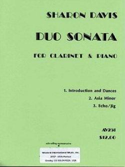 画像1: クラリネットとピアノのためのデュオ ソナタ  シャロン ディビス作曲