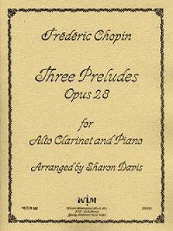 画像1: アルトクラリネットのための3つのプレリュード 作品28  フレデリック ショパン作曲