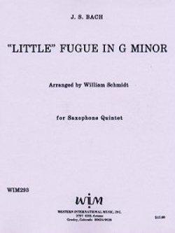 画像1: サキソフォン五重奏のための小フーガト短調 ヨハン セバスチャン バッハ作曲