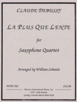 画像1: サキソフォン四重奏のためのレントより遅く  クロード ドビュッシー作曲